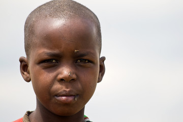 Portrait of a Masai girl