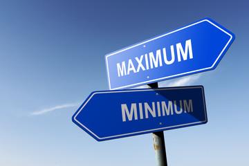 Maximum and Minimum directions.  Opposite traffic sign.