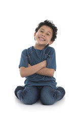 Smiling Boy with Crossed Arms