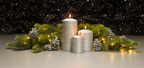 Three Silver Candles
