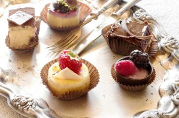 mini bavarian cream desserts