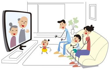 ネットで繋がる家族