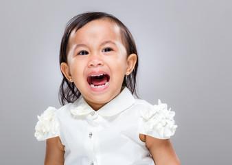 Little baby girl scream