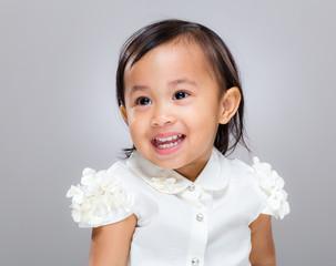 Mixed race happy girl