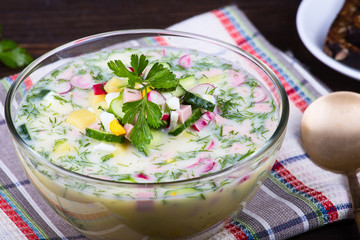 Summer soup - okroshka