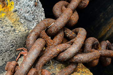 Rusty Steel Chain Detail