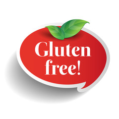 Gluten Free food label for product