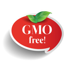 Gmo free icon label