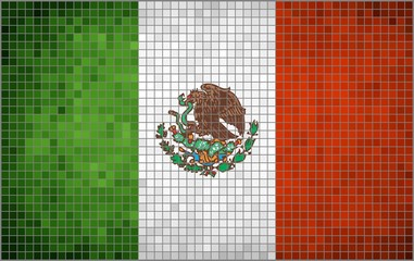 Mosaic Flag of Mexico