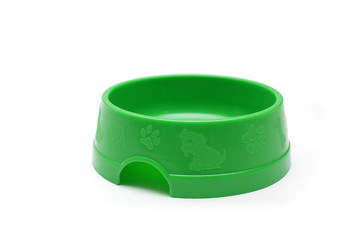 Green pet bowl for animals
