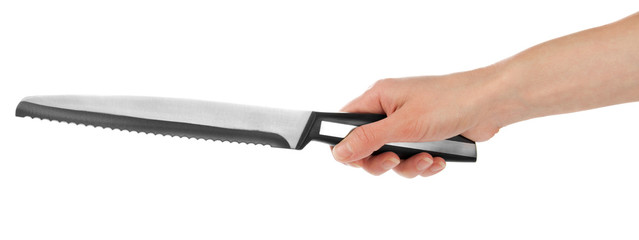 Kitchen knife in hand