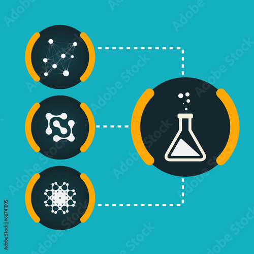 Set icons chemical experiments eps - 66741005