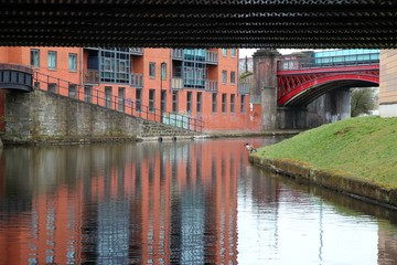 Manchester, UK - Castlefield canal district