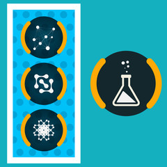 Set icons chemical experiments eps