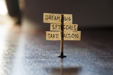 Grande ideal, establecer metas, Take Action
