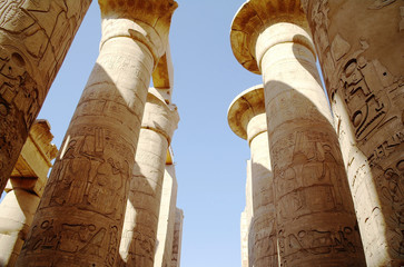Great Hypostyle Hall at the Temples of Karnak .Luxor, Egypt