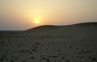 Evening scene in desert