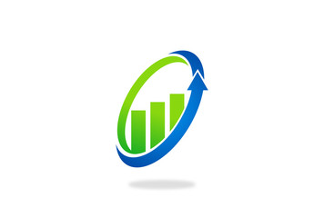 finance growth chart vector