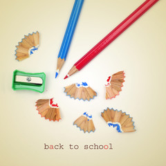 back to school, with a retro effect