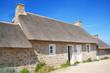 Chaumières bretonnes à Méneham dans le Finistère, Bretagne