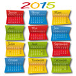 CALENDRIER Post It 2015
