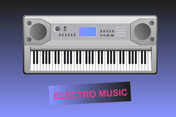 Electro music - electric piano and text