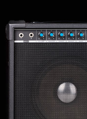 Guitar amplifier on black