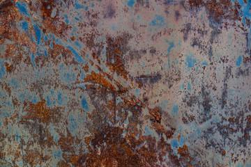 Fondo con Textura de Metal Viejo y Oxidado