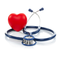 Stethoscope and red heart - 1 to 1 ratio