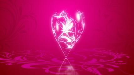 сияющее  сердце