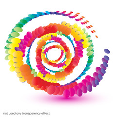 Abstract swirl shape background with vibrant color tones