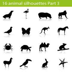 16 animal silhouettes Part 3