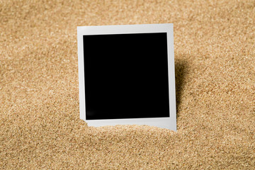 Empty photo on beach sand