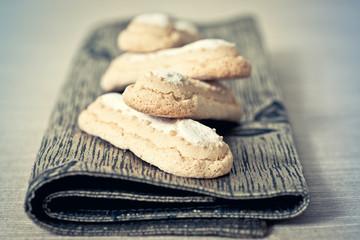 sponge fingers sugar biscuit