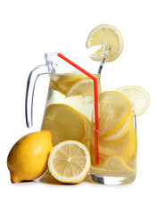 Glass ars whit lemon