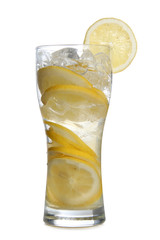 Glass whit lemon