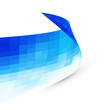 Abstract blue curvy background