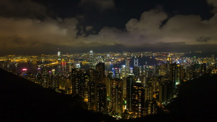 Hong Kong Cityscape at Night Time Lapse 1920x1080