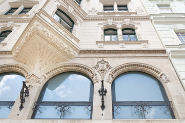 Old historical building with beautiful windows, Vienna