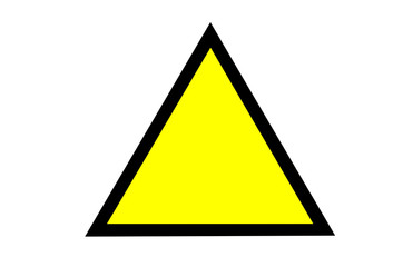 Isolated on white empty Alert yellow sign for your design or tex