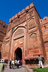 Famous Agra Fort in India