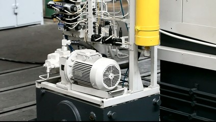 motor mechanism of the machine at the plant