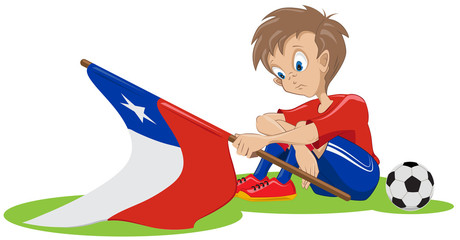 Sad Chile soccer fan
