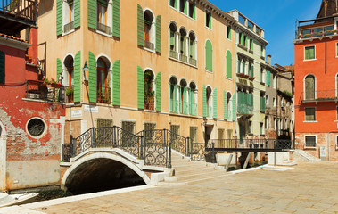 Ponte Giustinian, Venice, Italy.