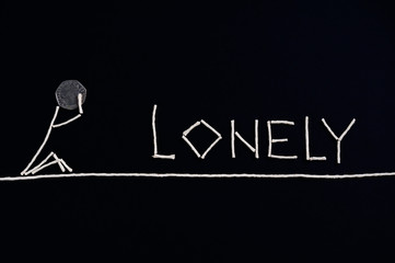 Lonely person, desperate person, unusual concept