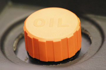 Orange Cap Fuel Tank