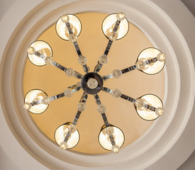Ornate ceiling light chandelier