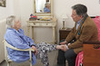Medical check up to  elderly woman at her home-