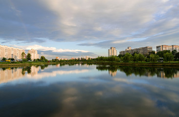 Summer evening in a recreation area, Gomel