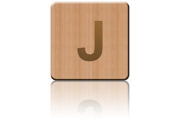 Carré de bois J